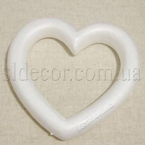 Сердце пенопластовое 25см