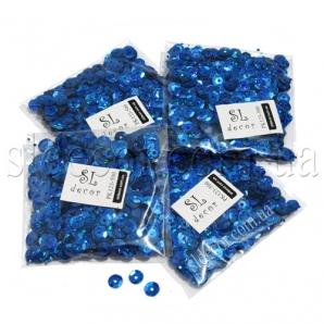 Пайетки граненые синие