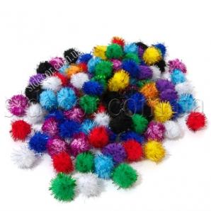 Помпоны разноцветные