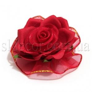 Цветы из ткани головки