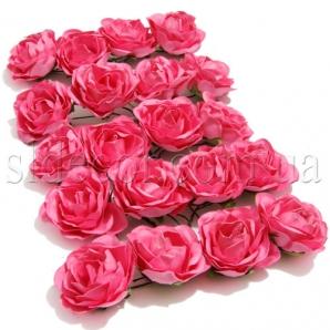 Розочки розовые из бумаги