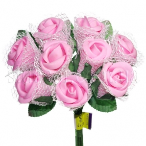 Свадебный букет из розовых роз