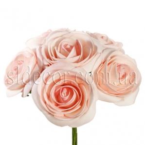 Букет из шести розовых роз