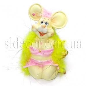Копилка мышка-дамочка