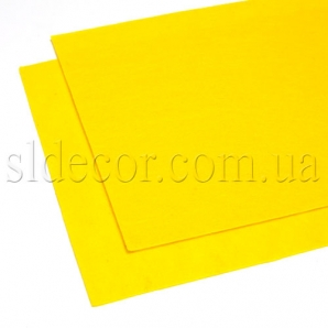 Фетр желтый 20х30см