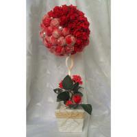 Топиарий из сизаля и роз
